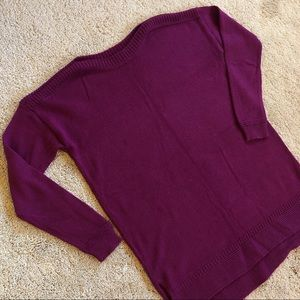 Bright Plum Boatneck Sweater by Old Navy Size S